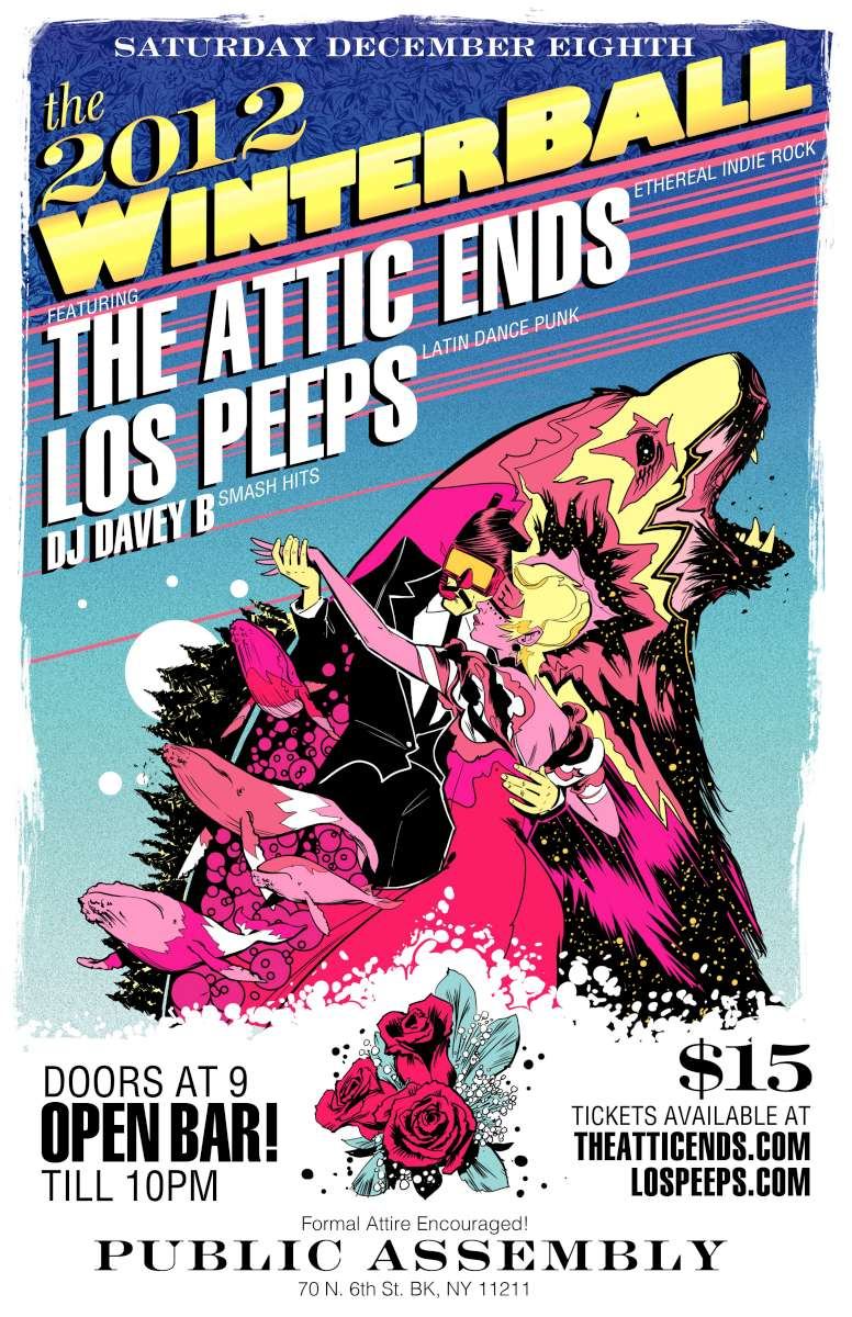 The Attic Ends, Los Peeps, DJ Davey B At Public Assembly
