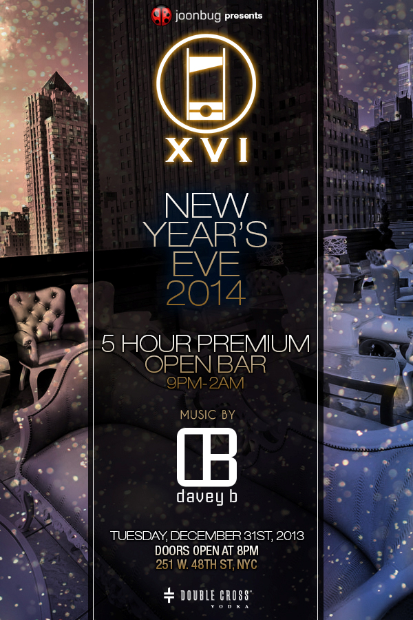DJ Davey B at XVI Rooftop Lounge NYE 2014